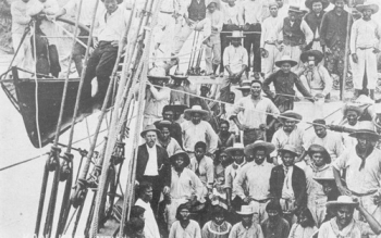 South Sea Islanders arriving by ship in Bundaberg Queensland